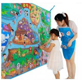 Lalababy/拉拉布书大型教具互动教学地垫婴儿游戏垫动物园